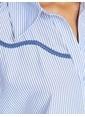 Koton Çizgili Gömlek Mavi